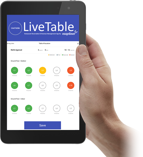 LiveTable - Table reservation app